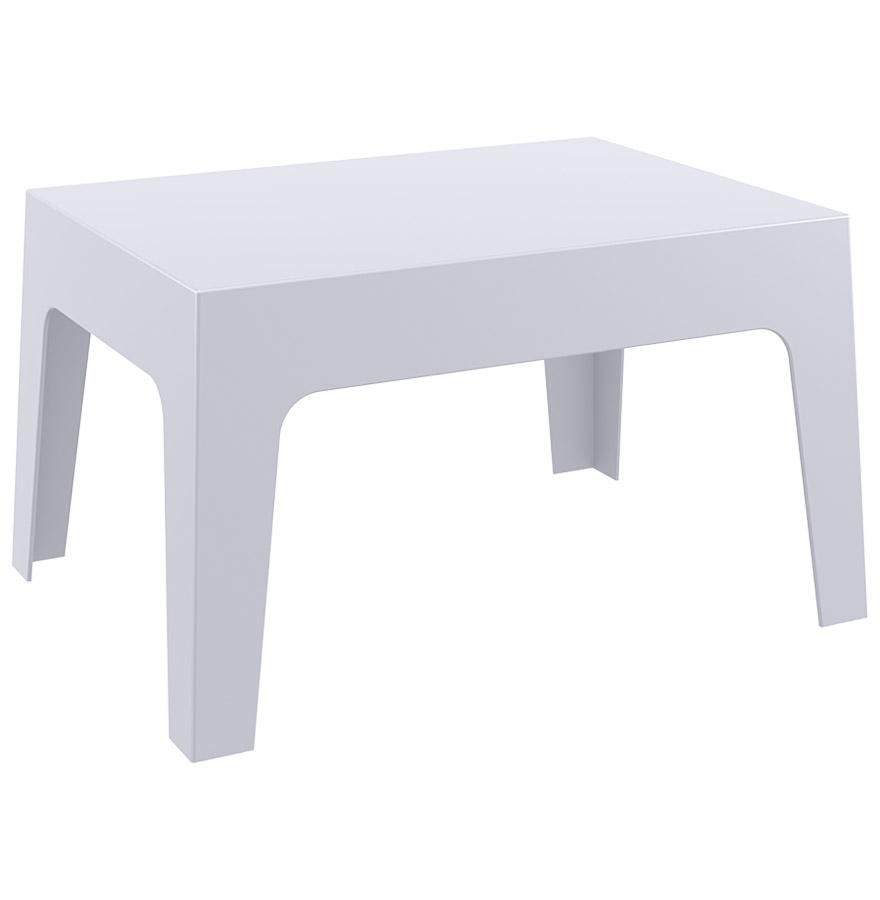 Table basse 'MARTO' grise claire en matière plastique