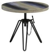 Table basse Overdyed / Hauteur réglable - Ø 50 cm - Diesel with Moroso gris délavé en métal