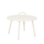 Table basse Swim Lounge / 1 anse - Ø 51 x H 30 cm - Bibelo beige en métal