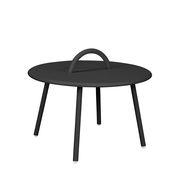 Table basse Swim Lounge / 1 anse - Ø 51 x H 30 cm - Bibelo noir en métal