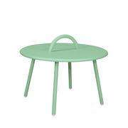 Table basse Swim Lounge / 1 anse - Ø 51 x H 30 cm - Bibelo vert ciel vénitien en métal