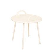 Table basse Swim Lounge / 2 anses - Ø 51 x H 48,5 cm - Bibelo beige en métal