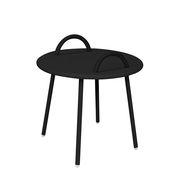 Table basse Swim Lounge / 2 anses - Ø 51 x H 48,5 cm - Bibelo noir en métal