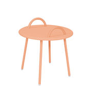 Table basse Swim Lounge / 2 anses - Ø 51 x H 48,5 cm - Bibelo rose barbe à papa en métal
