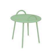 Table basse Swim Lounge / 2 anses - Ø 51 x H 48,5 cm - Bibelo vert ciel vénitien en métal