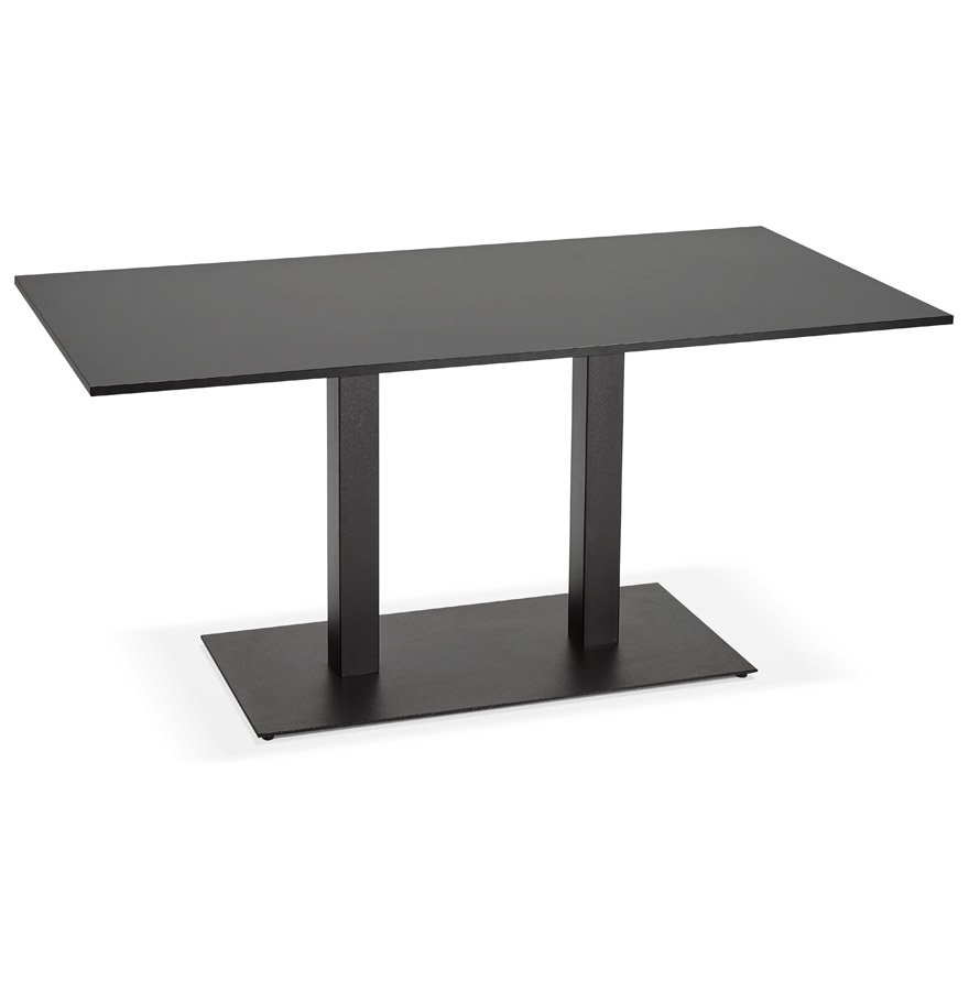 Table / bureau design 'AUSTIN' noir - 160x80 cm