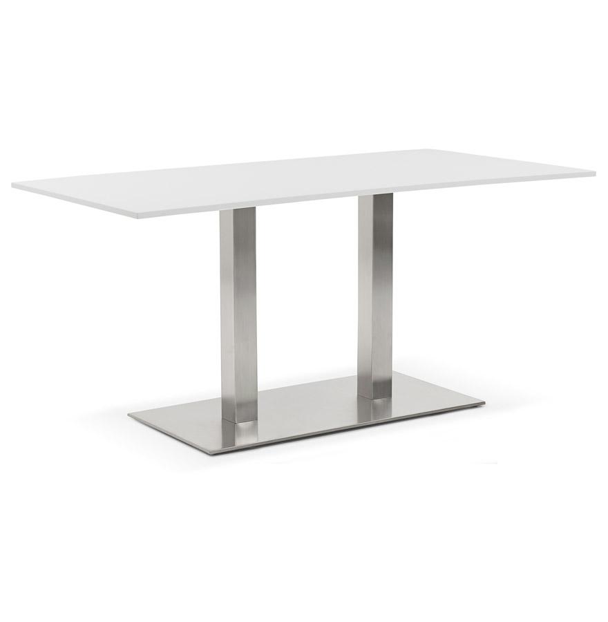 Table / bureau design 'DENVER' blanc - 160x80 cm
