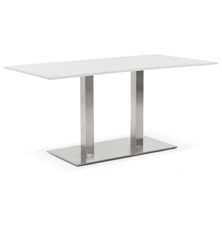 Table / bureau design 'DENVER' blanc - 160x80 cm
