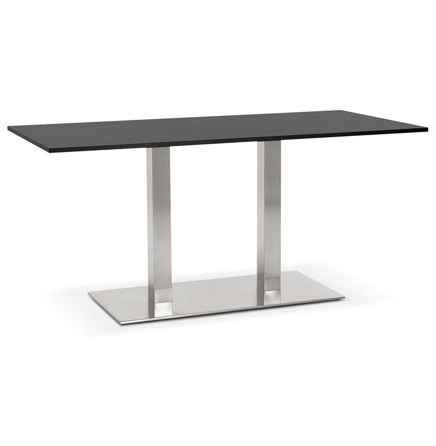 Table / bureau design 'DENVER' noir - 160x80 cm