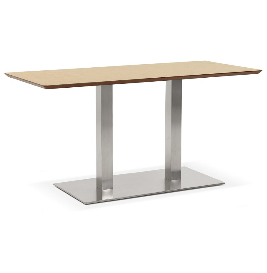 Table / bureau design 'MAMBO' en bois finition naturelle - 150x70 cm