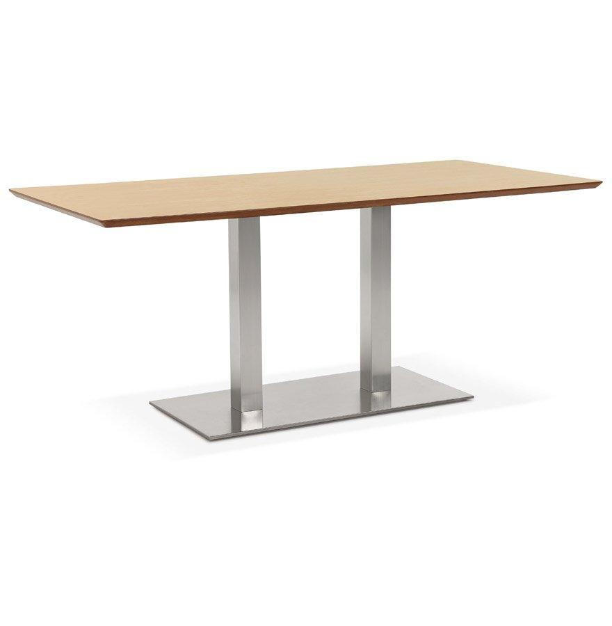 Table / bureau design 'MAMBO' en bois finition naturelle - 180x90 cm