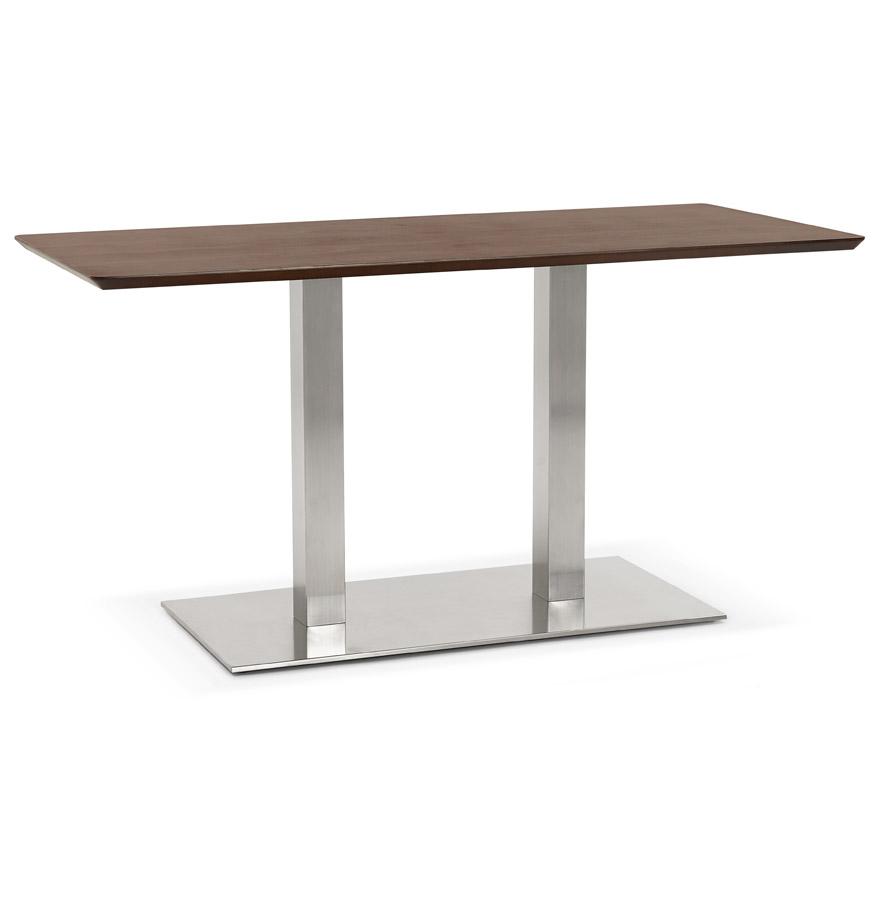 Table / bureau design 'MAMBO' en bois finition Noyer - 150x70 cm