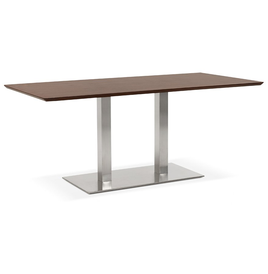 Table / bureau design 'MAMBO' en bois finition Noyer - 180x90 cm