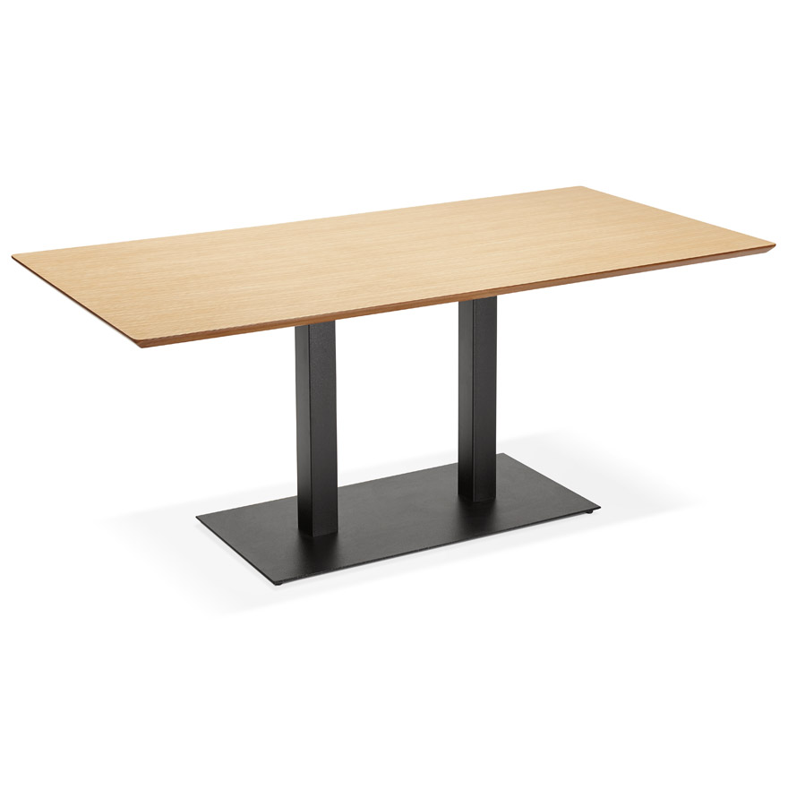 Table / bureau design 'ZUMBA' en bois finition naturelle - 180x90 cm