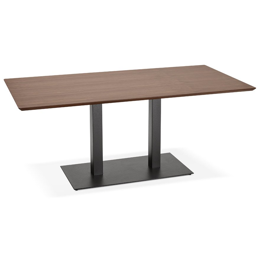 Table / bureau design 'ZUMBA' en bois finition Noyer - 180x90 cm