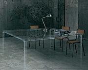 Table carrée Oscar / 190 x 190 cm - Glas Italia transparent en verre