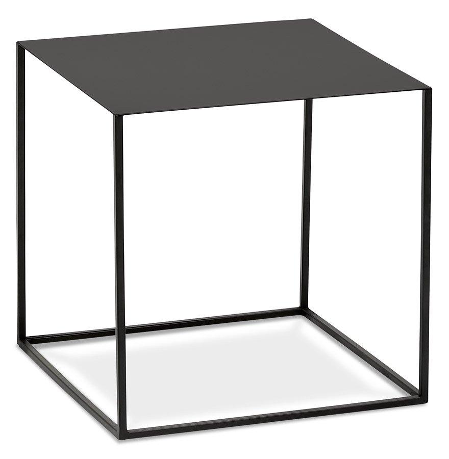 Table d'appoint design 'BONUS' en métal noir