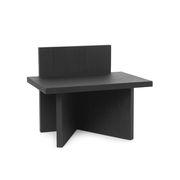 Table d'appoint Oblique / Table d'appoint - Bois / 40 x 29 cm - Ferm Living noir en bois