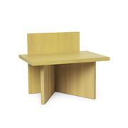 Table d'appoint Oblique / Table d'appoint - Bois / 40 x 29 cm - Ferm Living jaune en bois