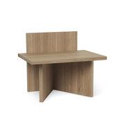 Table d'appoint Oblique / Table d'appoint - Bois / 40 x 29 cm - Ferm Living chêne naturel en bois
