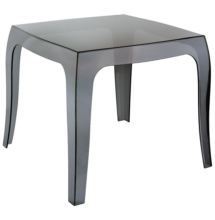 Table d'appoint 'RETRO' design noire transparente