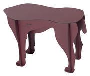 Table d'appoint Sultan / Table d'appoint - L 52 x H 34 cm - Ibride amarante mat en matière plastique