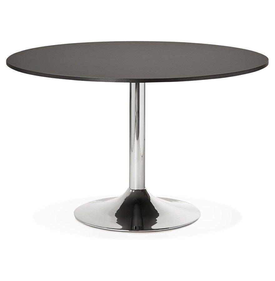 Table de bureau/à diner ronde 'SAOPOLO' noire - Ø 120 cm