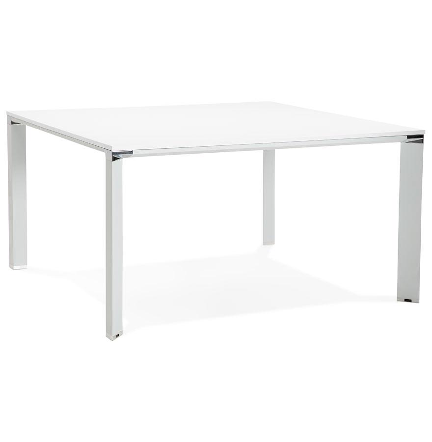 Table de réunion / bureau bench 'XLINE SQUARE' blanc - 140x140 cm