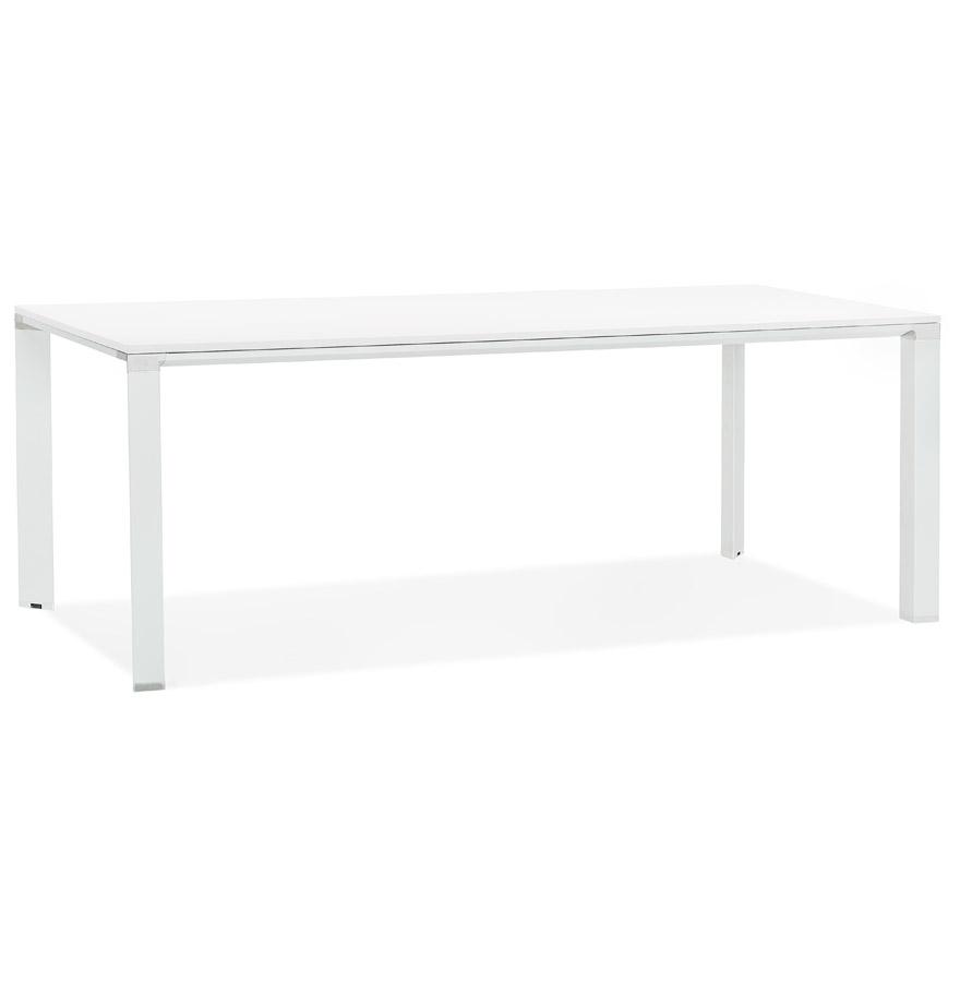 Table de réunion / à manger design 'XLINE' en bois blanc - 200x100 cm