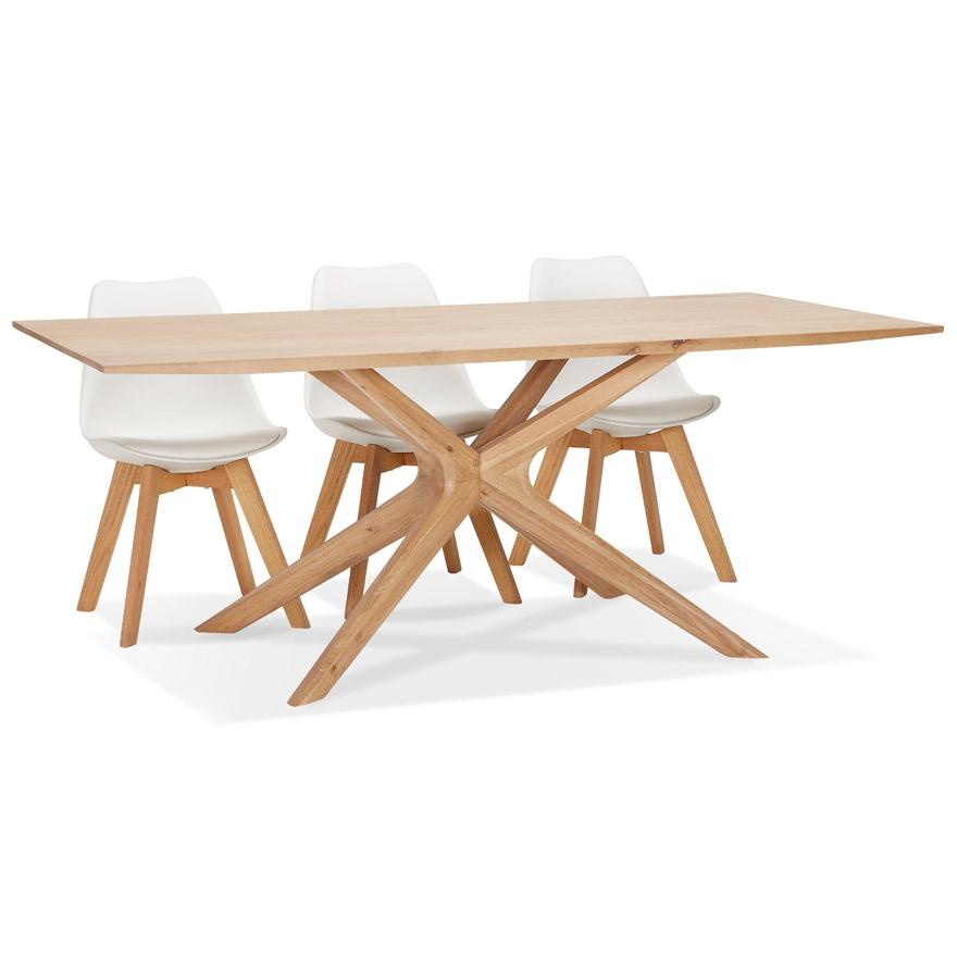 Table de salle à manger 'MANITOU' en chêne massif - 195x95 cm
