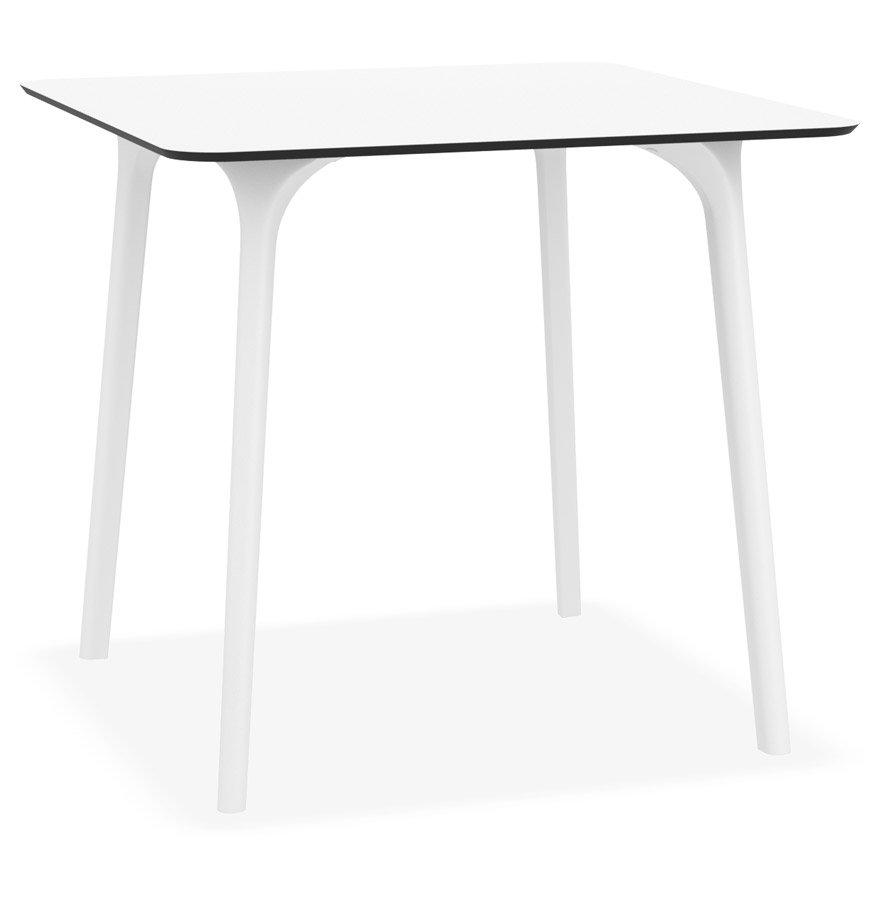 Table de terrasse carrée 'LAGOON' blanche intérieur / extérieur - 80x80 cm