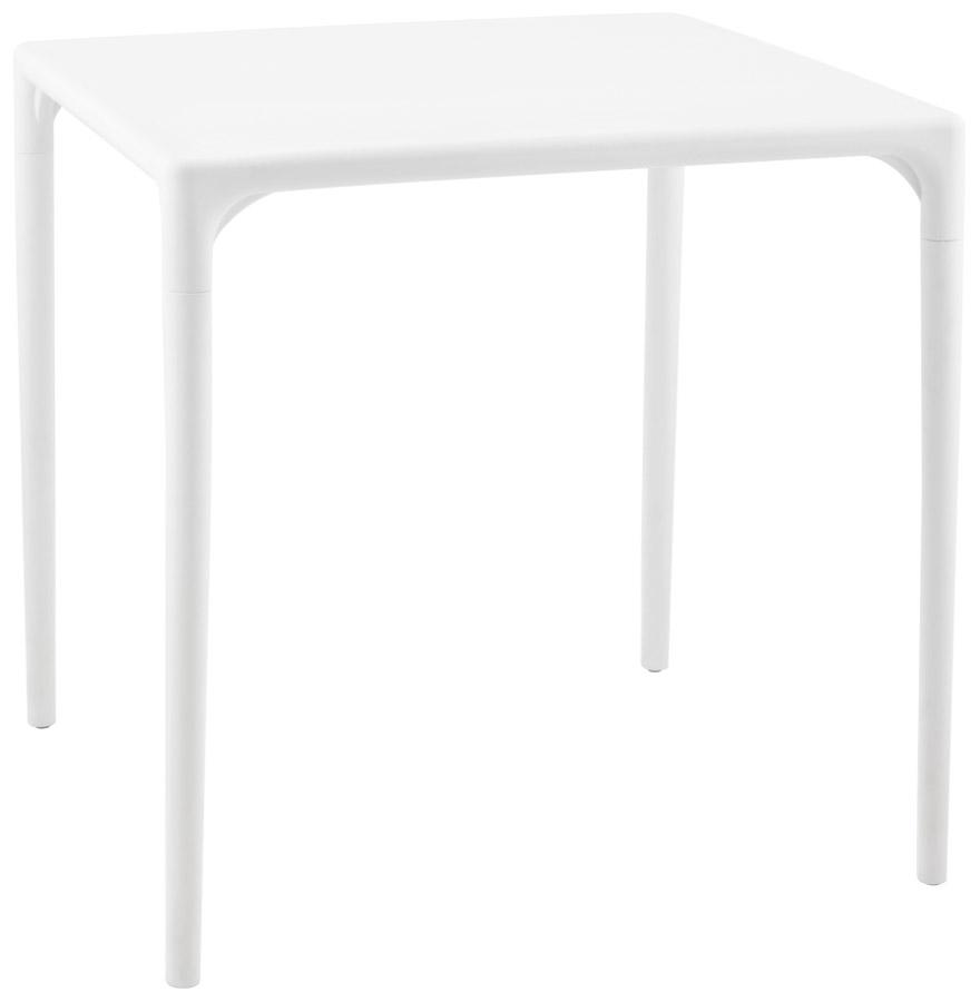 Table à dîner carrée 'KUIK' design blanche - 72x72 cm