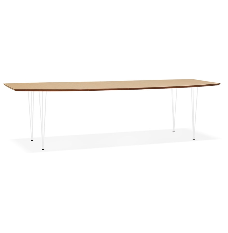Table à dîner / de réunion extensible 'DOKIDO' en bois finition naturelle - 170(270)x100 cm
