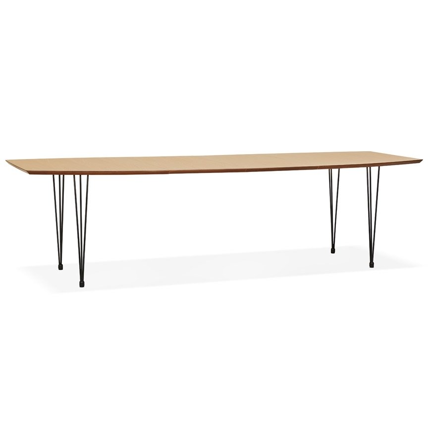 Table à dîner / de réunion extensible 'MOTUS' en bois finition naturelle - 170(270)x100 cm