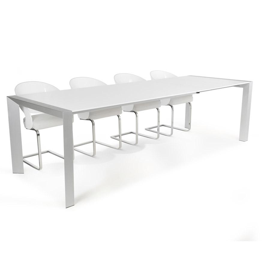 Table à dîner extensible 'TITAN' design blanche - 190(270)x95 cm