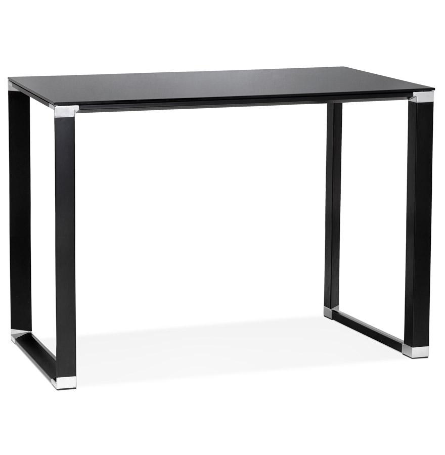 Table haute / bureau haut 'XLINE HIGH TABLE' en verre noir - 140x70 cm