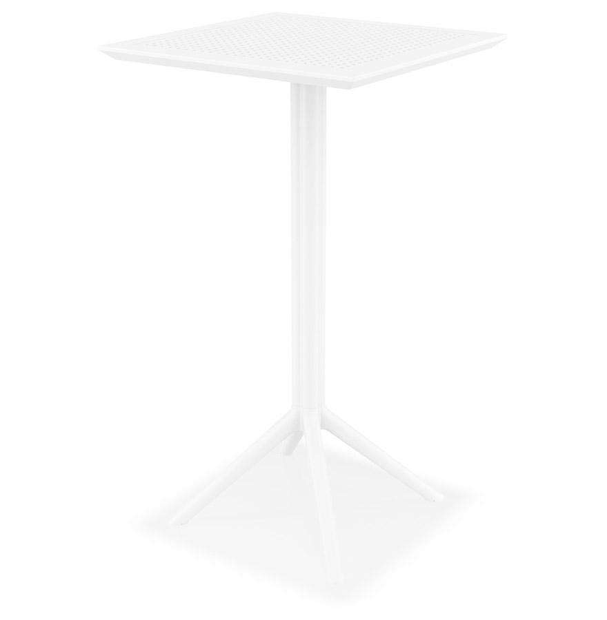 Table haute pliable 'FOLY BAR' blanche pour intérieur et extérieur