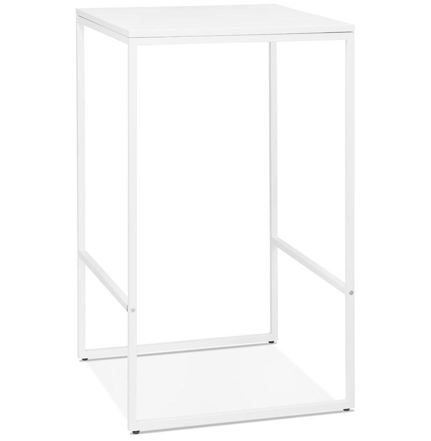 Table haute style industriel 'ORTOS' blanche idéale pour les professionnels