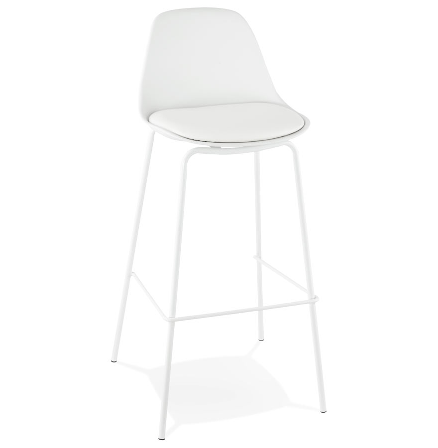 Tabouret de bar 'COOKIE' blanc style industriel