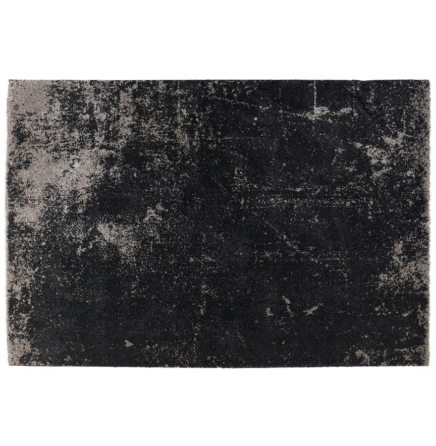 Tapis de salon 'GATSBY' 160/230 cm noir avec dégradé gris