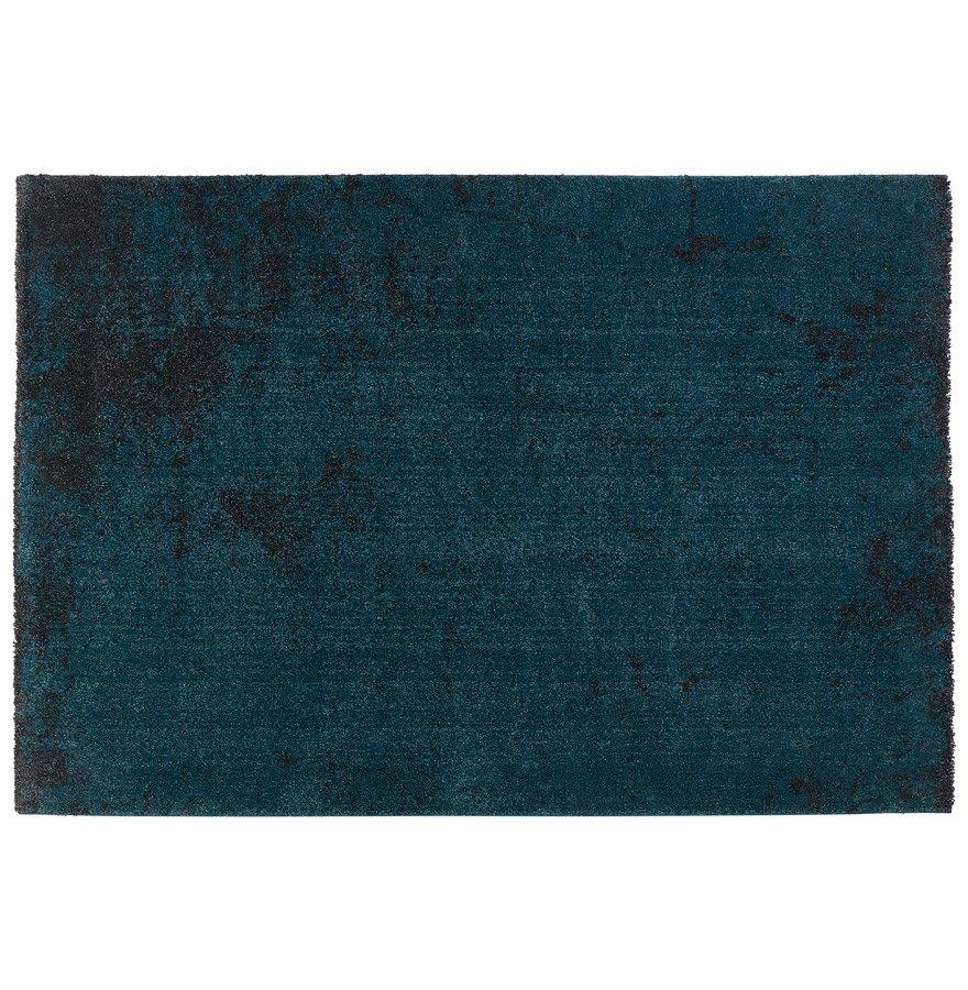 Tapis de salon 'LOUIX' 160/230 cm bleu paon avec dégradé noir