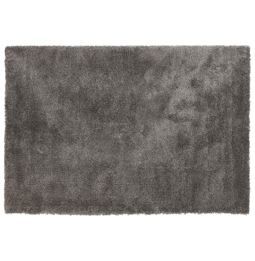 Tapis de salon shaggy 'TISSO' gris foncé - 120x170 cm