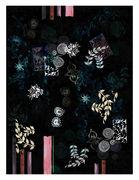 Tapis Le Temple Jais / 300 x 400 cm - Moooi Carpets noir,motifs multicolores en tissu