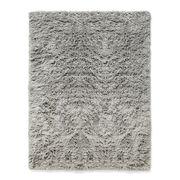 Tapis Shaggy / 140 x 200 cm - Poils longs - Hay gris chaud en tissu