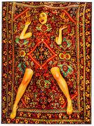 Tapis Toiletpaper - Femme / 194 x 280 cm - Seletti multicolore en tissu