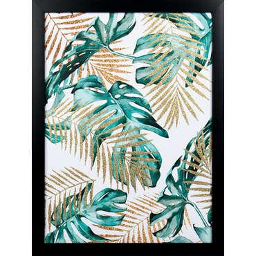 Toile imprimée végétale 45x60 cm PUPUCE