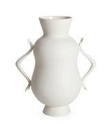 Vase Eve Double Bulb / Anses en forme de mains - Jonathan Adler blanc en céramique