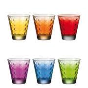 Verre à whisky Optic / Set 6 verres multicolores - Leonardo multicolore en verre